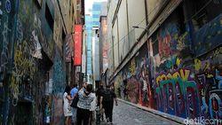 Gang Penuh Coretan Favorit Turis di Melbourne