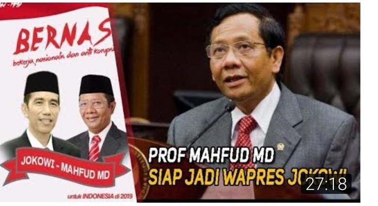 Beredar Poster Duet Jokowi-Mahfud MD untuk Pilpres 2019