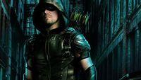 Sosok Green Arrow yang misterius.