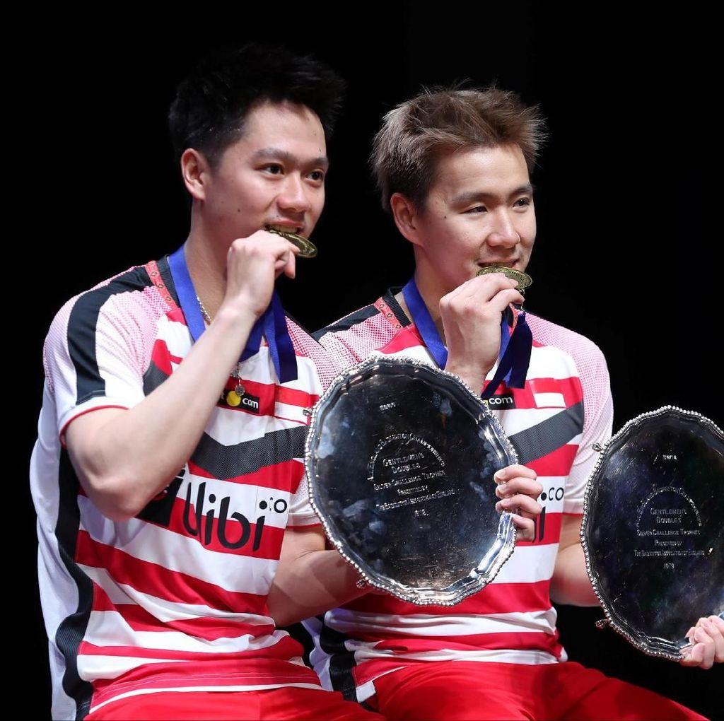 Juara All England Ganda Putra, Kevin/Marcus Bawa Pulang Uang Rp 1 Miliar