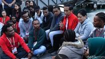 Jokowi Dengarkan Curhat Dosen Papua di Selandia Baru