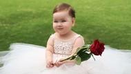 Bayi Bermata Biru dan Berpipi Gembil Ini Menggemaskan Banget