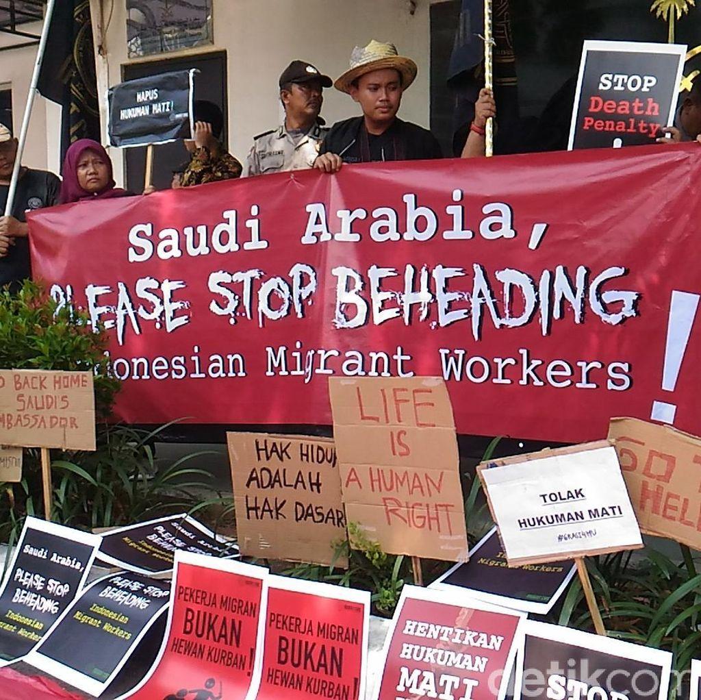 Protes TKI Zaini Dipancung, Aktivis Demo di Kedubes Arab Saudi