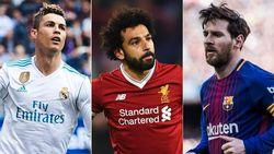 Membandingkan Salah dengan Ronaldo dan Messi