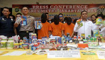 Ini Makanan Kedaluwarsa yang Diamankan di Jakarta Barat