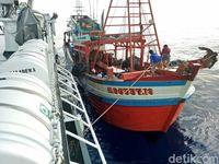 4 Kapal Nelayan Vietnam Ditangkap Curi Ikan di Natuna
