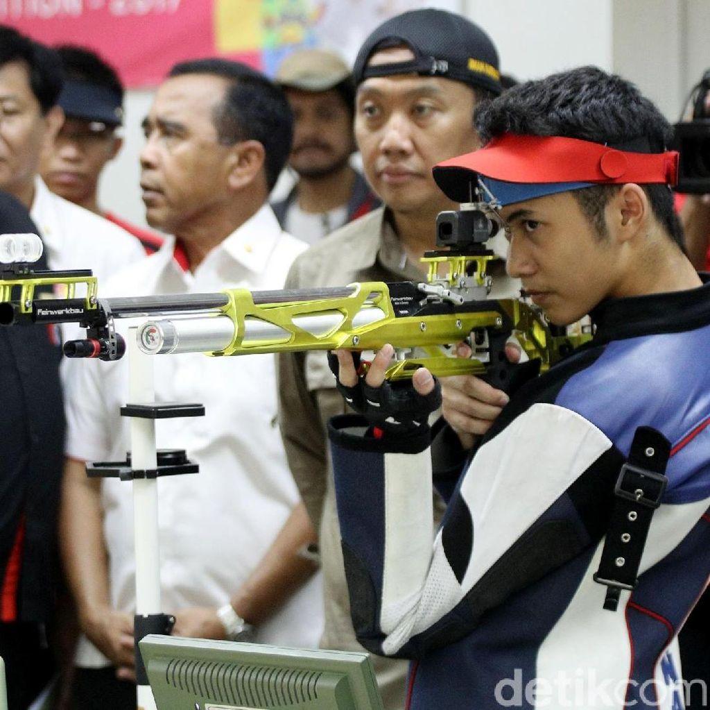 Mengintip Latihan Atlet Tembak Jelang Asian Games 2018