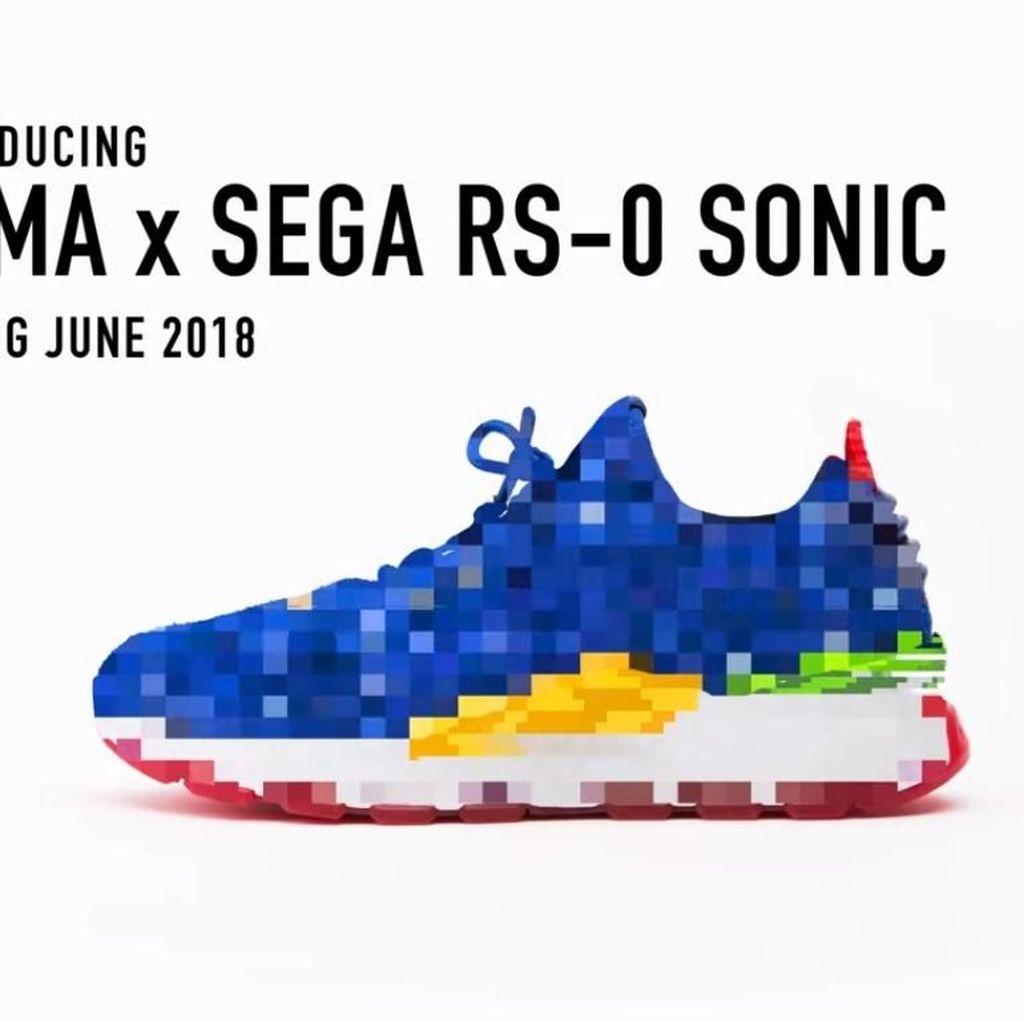 Sega dan Puma Kolaborasi Bikin Sepatu Sonic