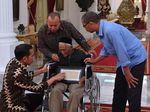 Jokowi Doakan Nyak Sandang yang akan Jalani Operasi Katarak