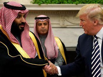 Foto: Senyum dan Tawa Putra Mahkota Saudi Saat Bertemu Trump