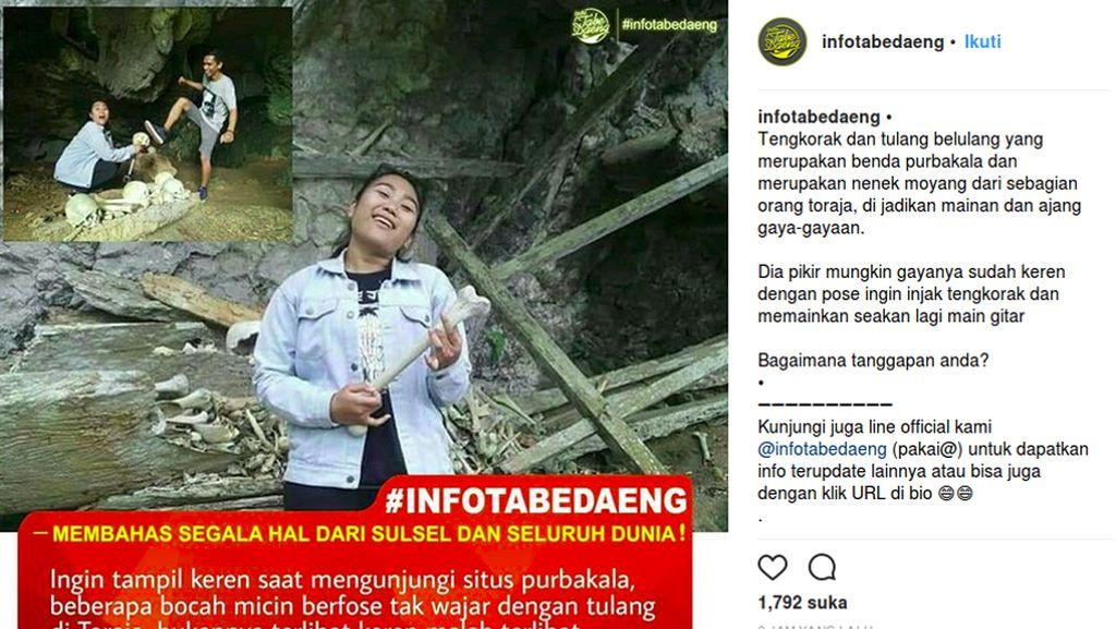 Soal Pose Wisatawan Melecehkan Makam Toraja: Tidak Bermoral