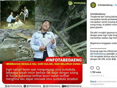 Baru Pertama Kali Ada Orang Berpose Melecehkan Makam Toraja?