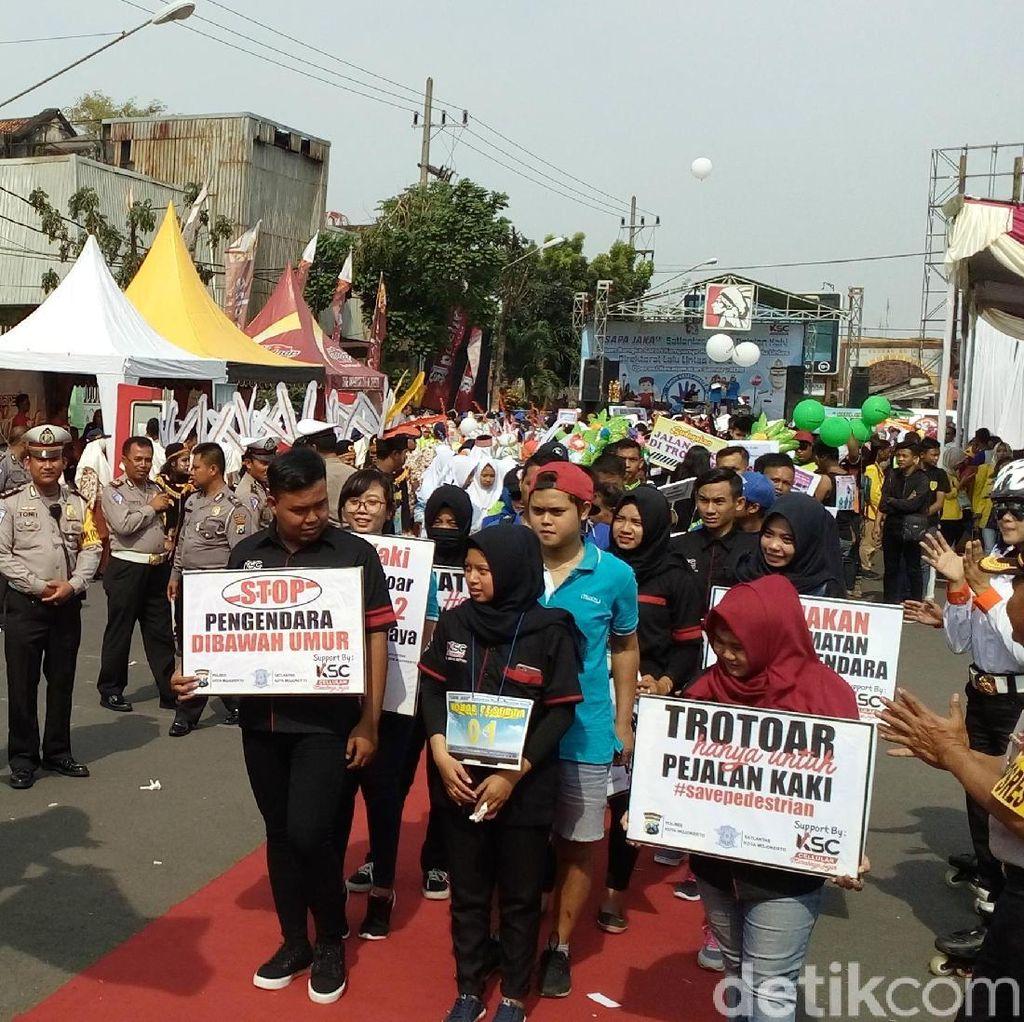 Ini yang Dilakukan 5 Polres Kampanyekan Fungsi Trotoar