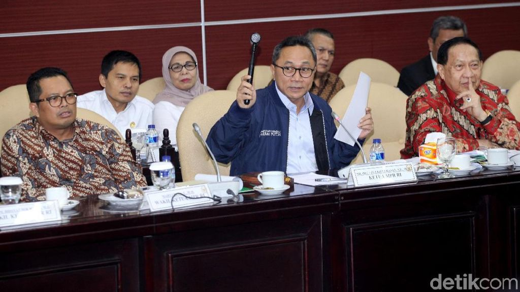 MPR Rapat Bahas Penambahan Kursi Pimpinan