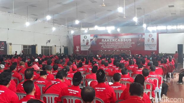 Suasana Rakercabsus PDIP Bojonegoro