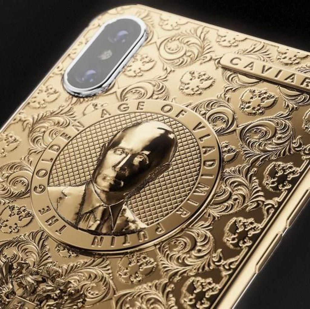 iPhone X Seharga Rp 68 Juta, Berlapis Emas Berwajah Putin