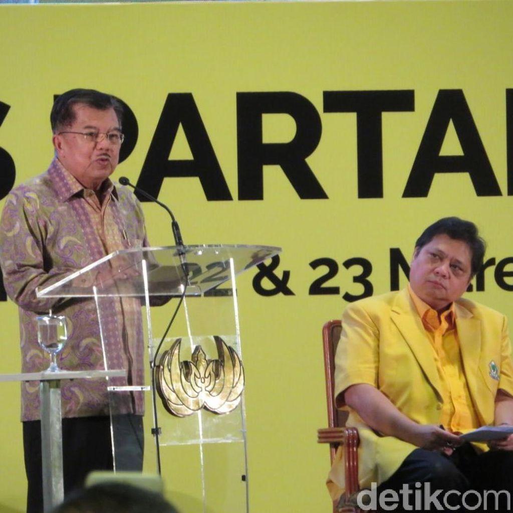 JK soal Airlangga Jadi Cawapres Jokowi: Tinggal Usaha Saja