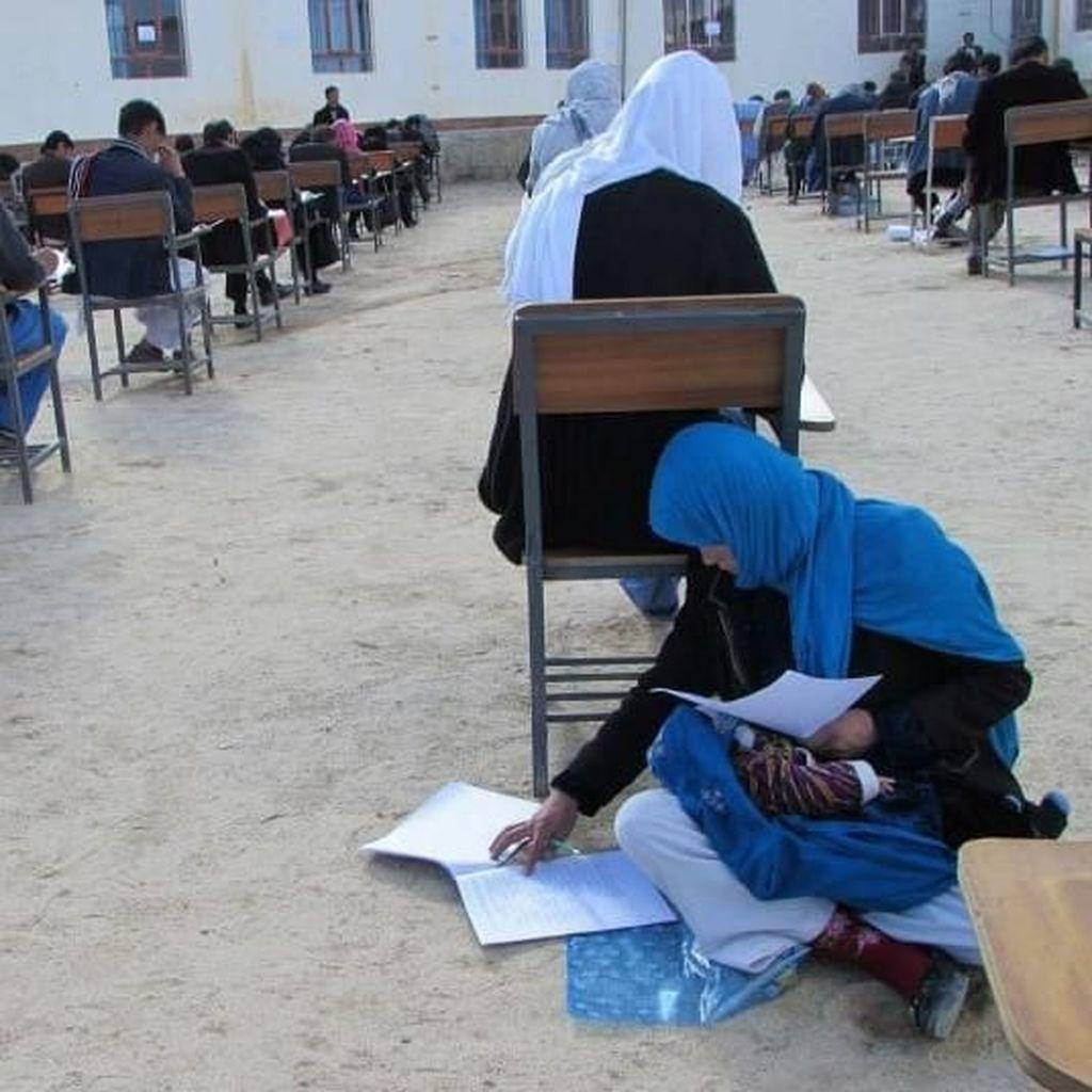 Kisah di Balik Foto Viral Wanita yang Ikut Ujian Sambil Menyusui
