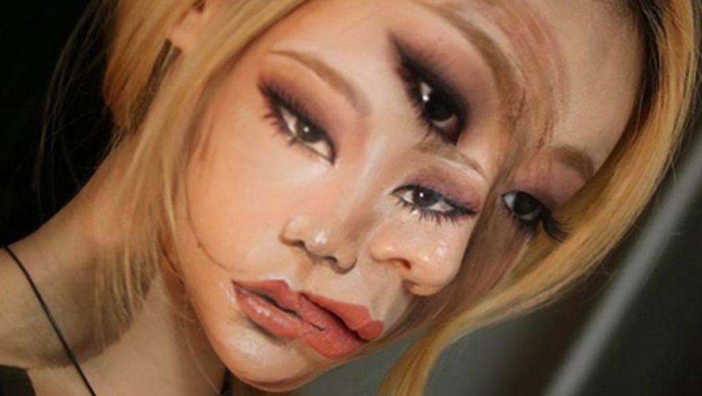 Keren! Makeup Ilusi Ini Bikin Mata Terbelalak