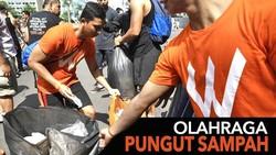 Asyiknya Plogging di Berbagai Kota, Olahraga Plus Pungut Sampah Bareng
