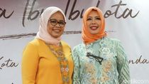 Gaya Istri Anis Baswedan Berkebaya Betawi Motif Bundaran HI