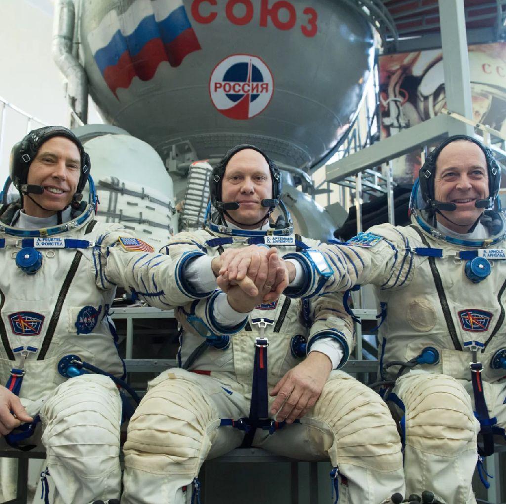 Ini 3 Astronot yang Terbang ke Luar Angkasa dengan Soyuz MS-08
