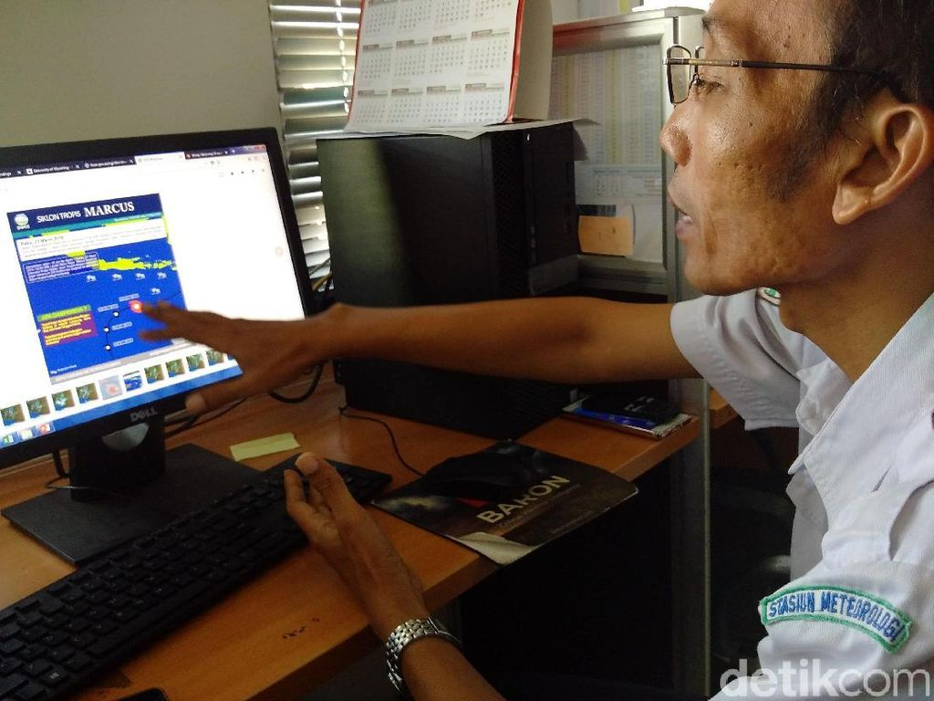 Penjelasan BMKG tentang Siklon Marcus yang Lintasi Selatan Yogya