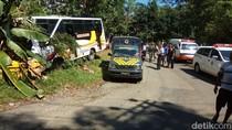 Sempat Terseret, Pasutri Pengendara Motor Tewas Tertabrak Bus