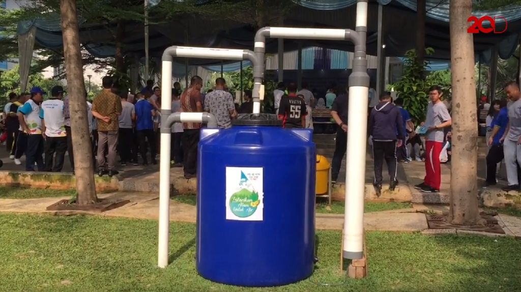 Menteri PUPR Perkenalkan Alat Pemanen Air Hujan