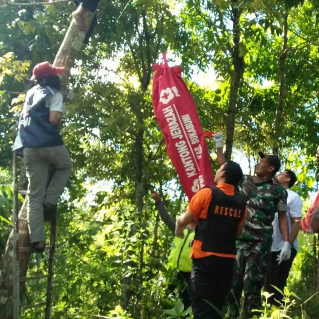 Ngeri! Anak Tewas Dicekik dan Jasad Ayah Tergantung di Sukabumi