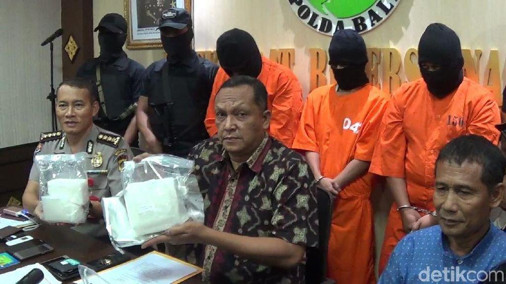 Bandar dan 2 Kurir Sabu di Bali Diciduk Polisi, 2 Kg Sabu Disita