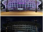 Before After Stadion GBK Jadi Gelap Saat Earth Hour