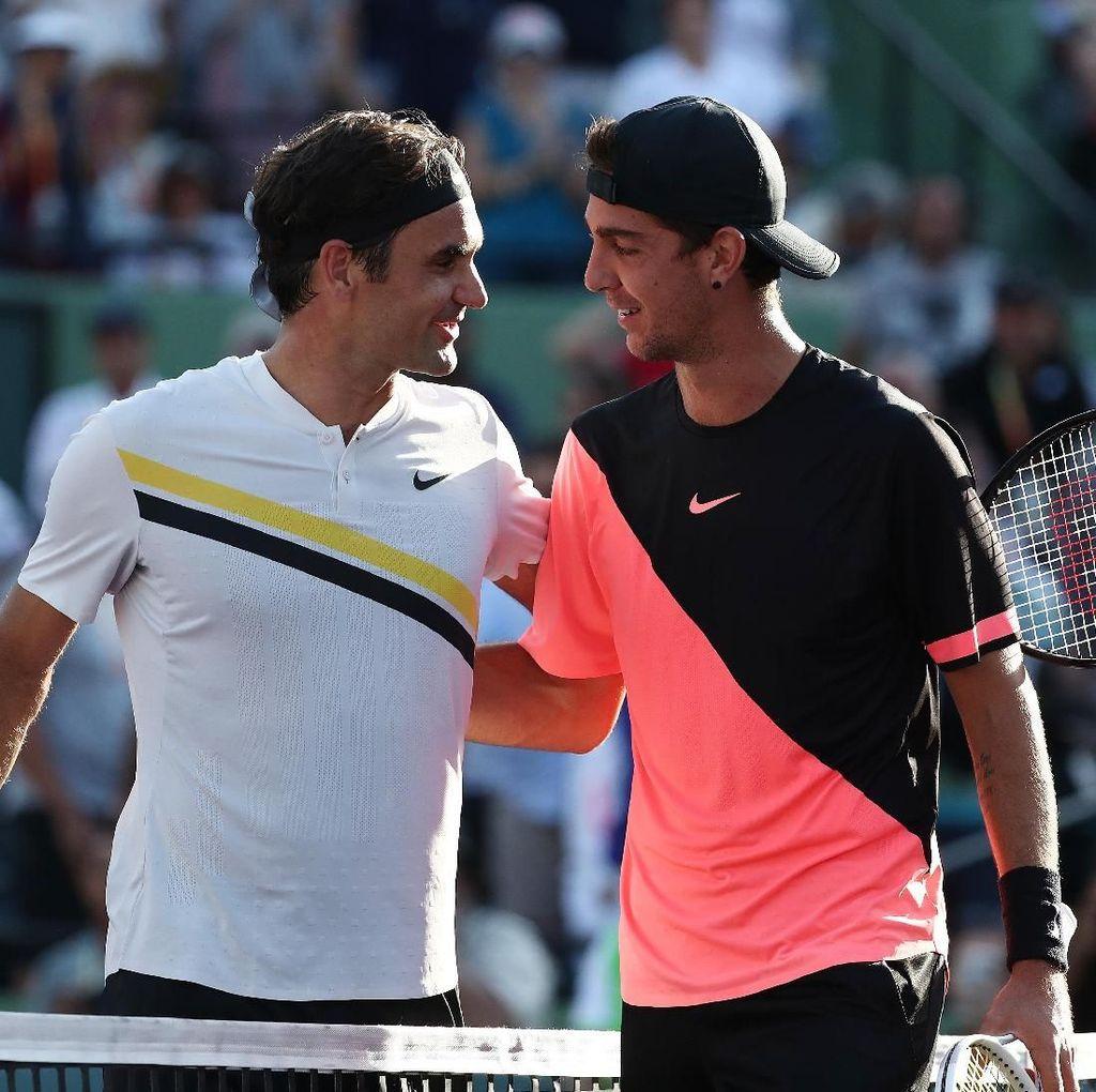 Federer Ditumbangkan Petenis Peringkat 175 Dunia