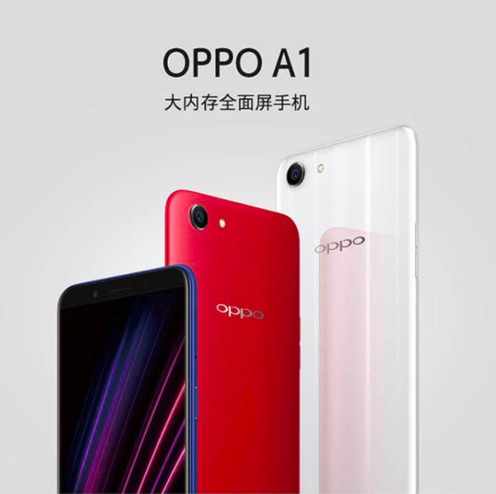 Oppo A1, Ponsel Terjangkau Berkelir Tiga Warna
