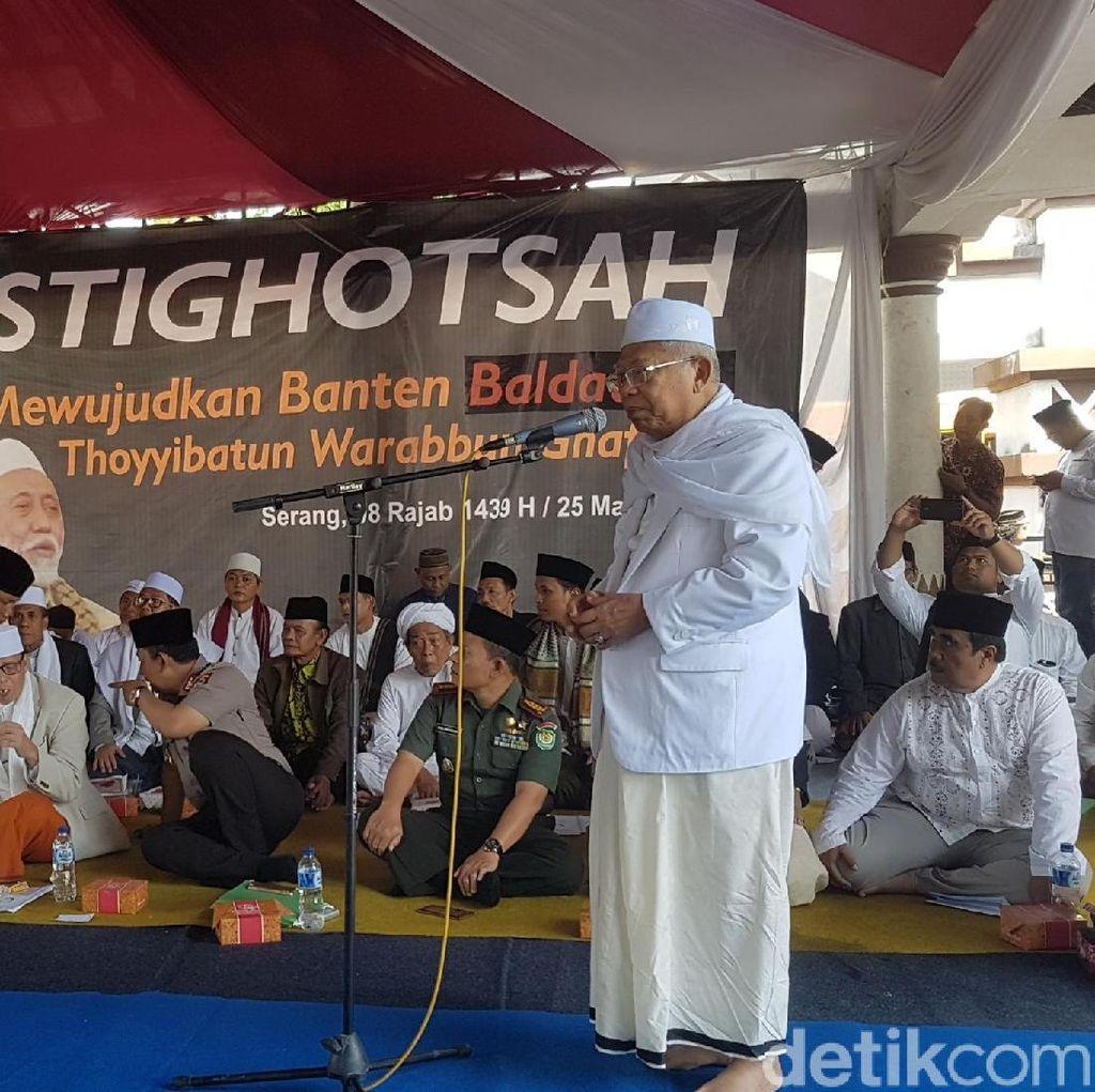 Maruf Amin dan Tokoh Lintas Agama se-Banten Deklarasi Anti Hoax