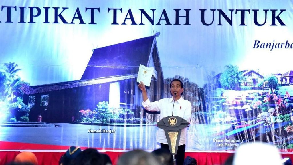 Seluruh Tanah Bersertifikat di 2020, Jokowi: BPN Nggak Libur