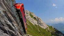 Foto: Kereta dengan Jalur Paling Miring Sedunia
