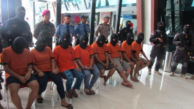 Selundupkan 666 Gram Sabu di Pembalut, 11 Orang Ditangkap