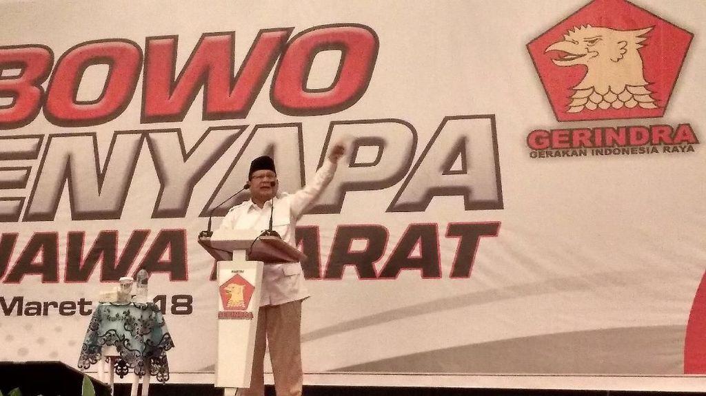 Prabowo Kritik Pemerintah soal Tuan Rumah Asian Games 2018