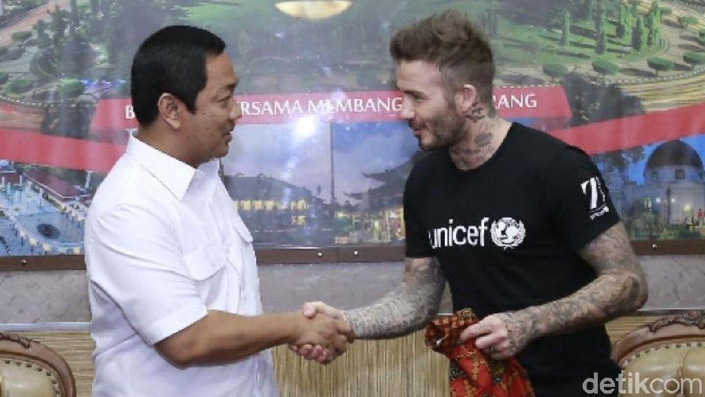 Ketika David Beckham Blusukanke Sekolah dan Balai KotaSemarang