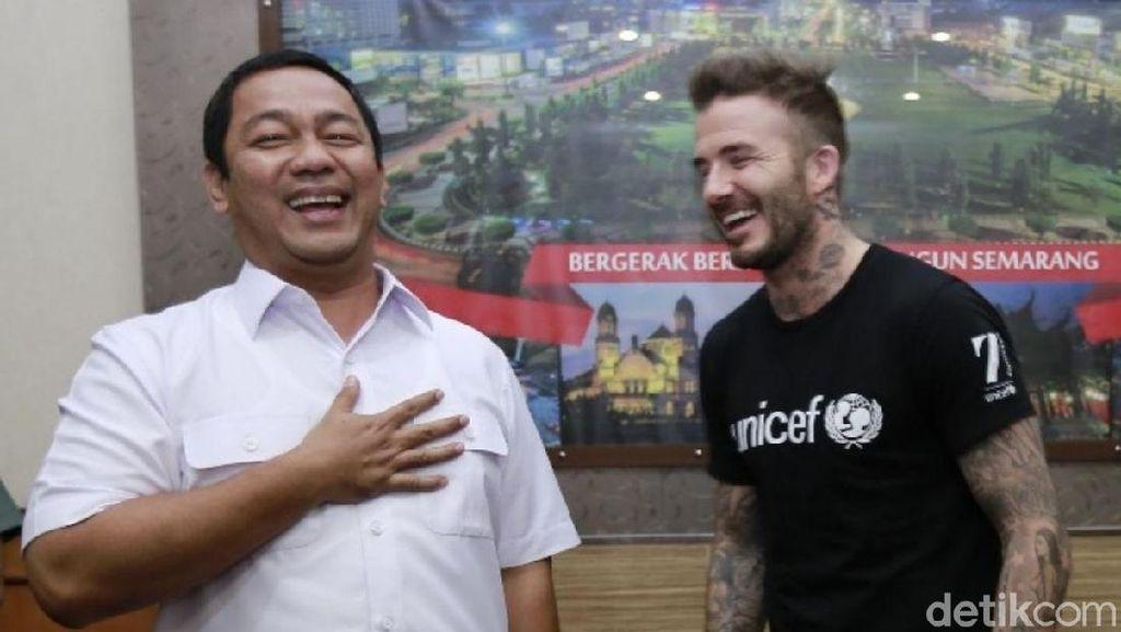 Beckham di Semarang: Main Bola Bareng Bocah, Bertamu ke Balai Kota