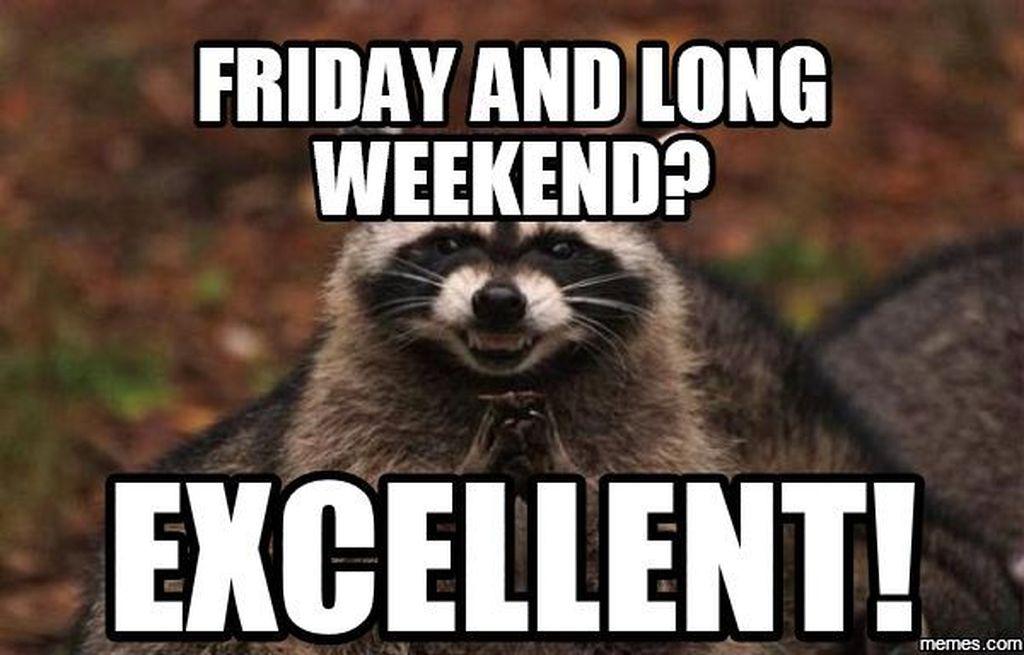 Hari jumat ditambah sabtu minggu, hari yang paling menyenangkan. (Foto: Internet)