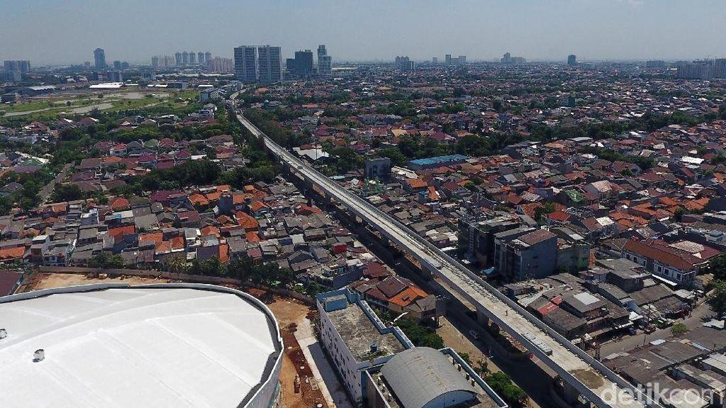 Dipakai Saat Asian Games, Progres Fisik LRT Jakarta Kini 70%