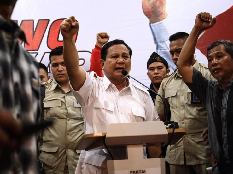 Prabowo: Saya Lebih Suka Bicara Sama Rakyat daripada Elite