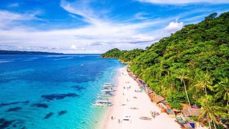 Foto: Pantai di Boracay, Filipina (AFP)