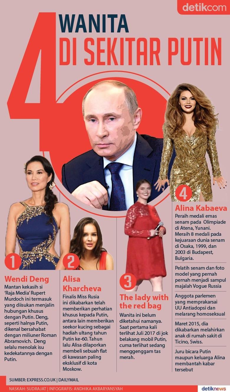 Sejak Menduda, Ini 4 Wanita yang Diisukan Dekat dengan Putin