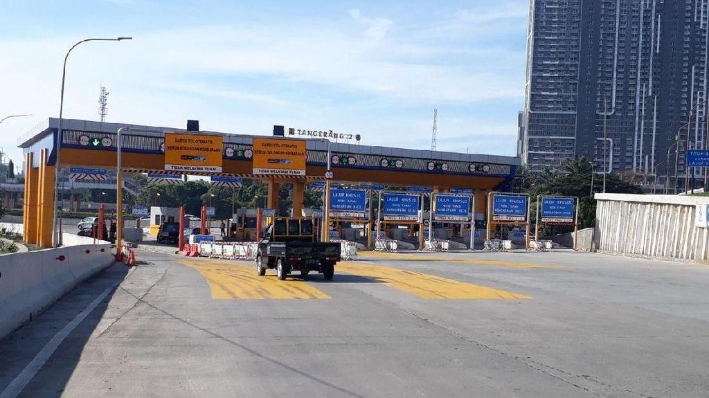 Kondisi Uji Coba Ganjil Genap di Tol Tangerang Pagi Ini
