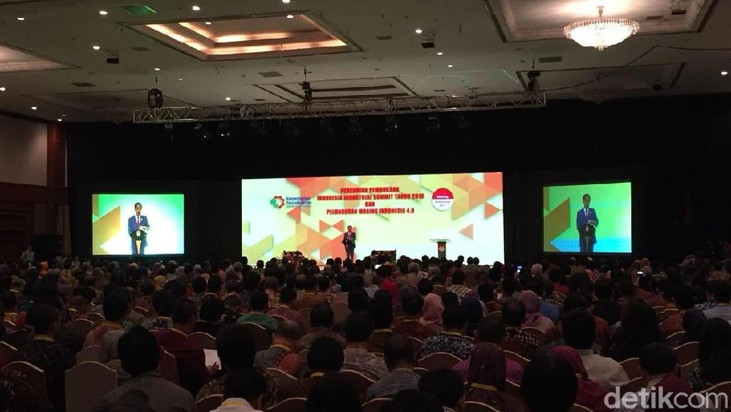 Jokowi Harap Industri 4.0 Bikin Ekonomi RI Masuk 10 Besar Dunia