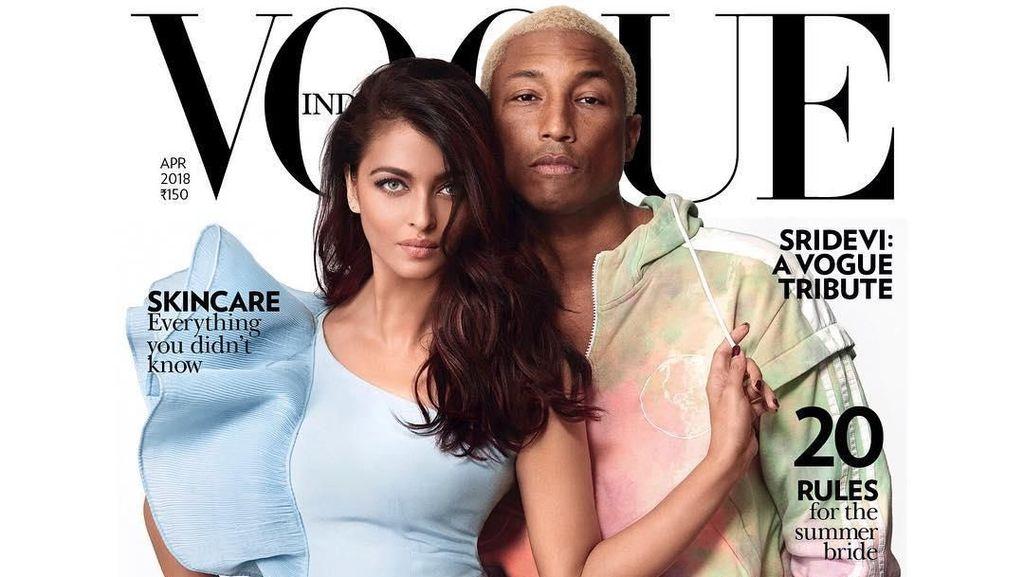 Pharrell Williams Mendadak India, Pose Bareng Aishwarya Rai di Vogue