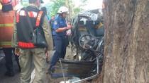 Diduga Ngantuk, Pengemudi Carry Tewas Terjepit Pohon di A Yani